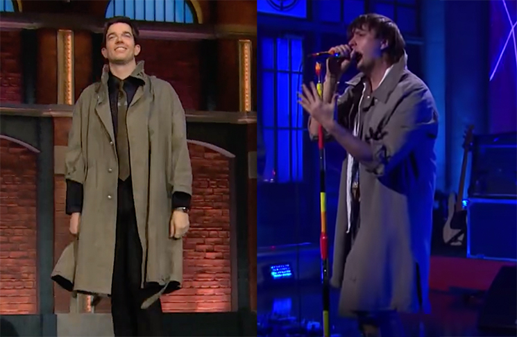The Strokes' Julian Casablancas Gave His Cool Trench Coat to John Mulaney After 'SNL'