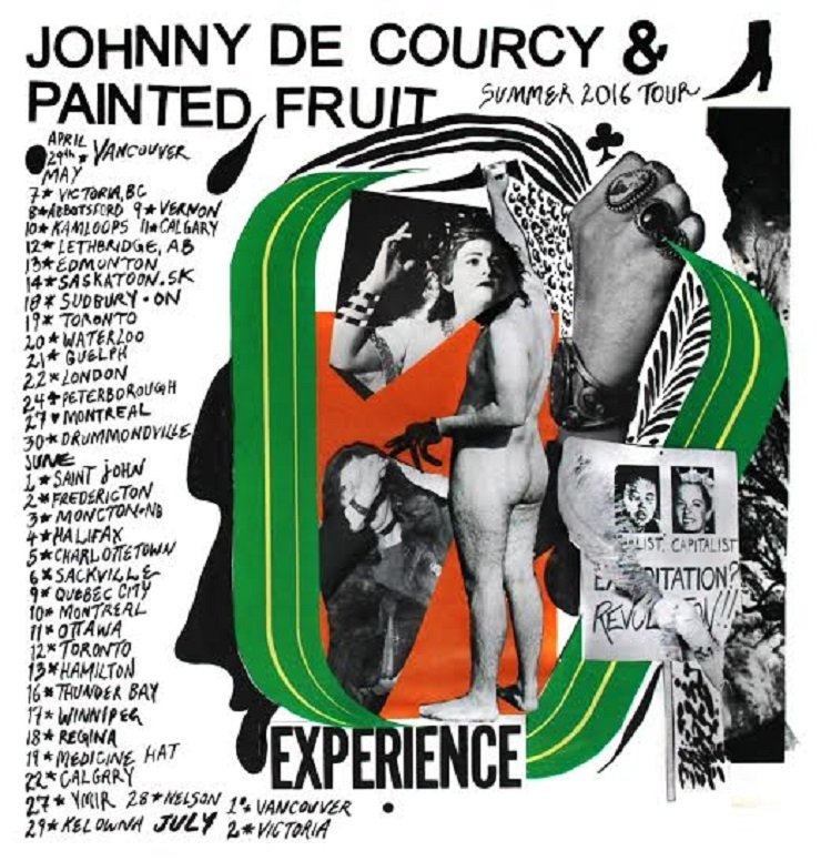 Johnny de Courcy Announces Cross-Canada Tour with Painted Fruit