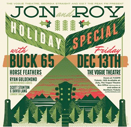 Jon and Roy Get Buck 65, Ryan Guldemond, Horse Feathers for Holiday Special Shows