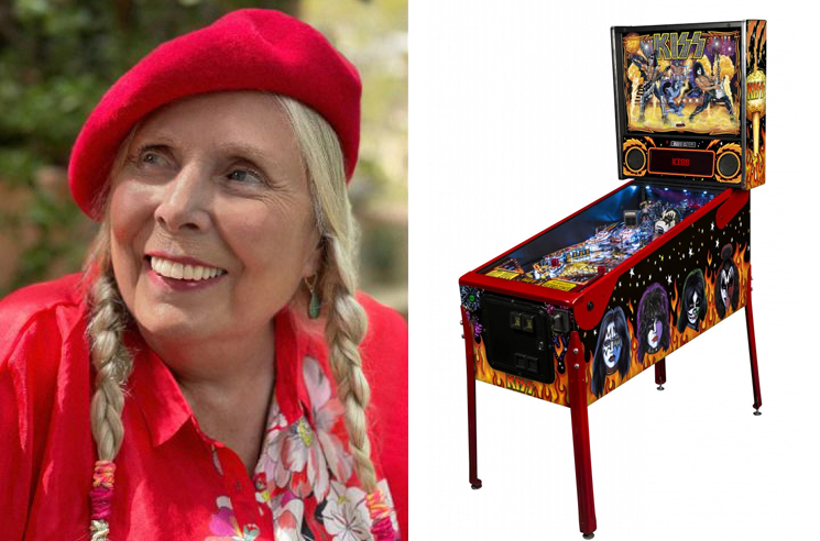 Joni Mitchell Apparently Owns a KISS Pinball Machine