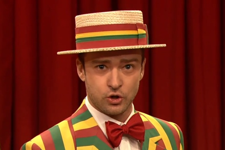 "Justin Timberlake ""Mirrors"" / ""SexyBack"" (ft. the Ragtime Gals) (live on 'Fallon')"