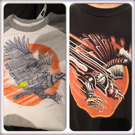 Judas Priest Art Allegedly Ripped Off on Gap T-Shirt