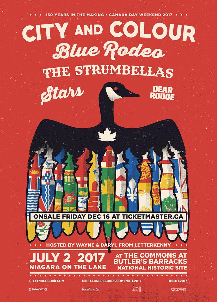 ​City and Colour, Blue Rodeo, Stars to Celebrate Canada Day in Niagara-on-the-Lake