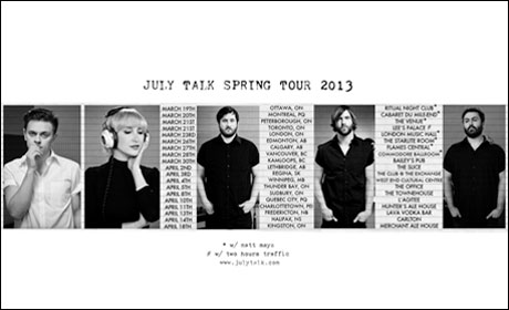 July Talk Announce Canadian Spring Tour