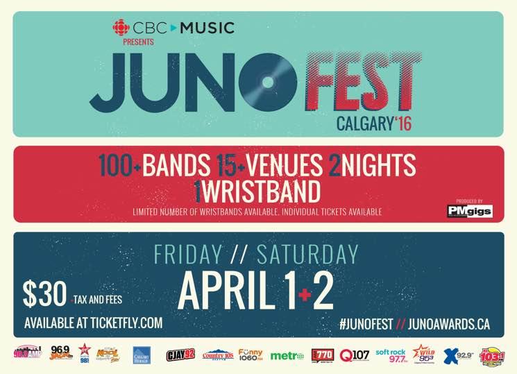 Calgary's Juno Fest Reveals 2016 Lineup