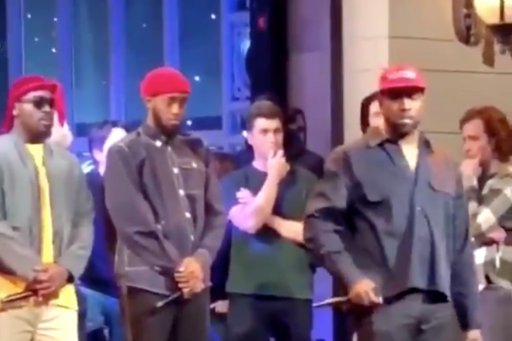 Kanye Delivered an Off-Air Political Speech on 'SNL' While Wearing MAGA Hat