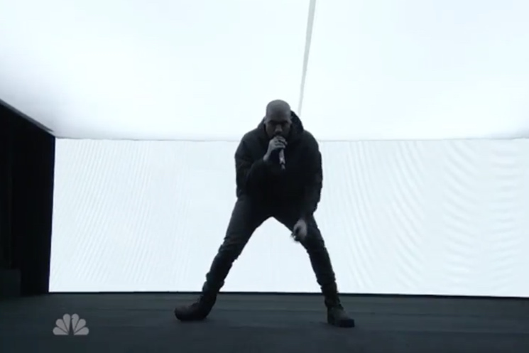 """Kanye West """"Jesus Walks"""" / """"Only One"""" / """"Wolves"""" (live on 'SNL')"""