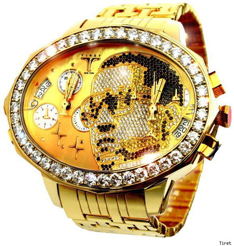 Kanye West Gets His Mug Plastered on Diamond-Encrusted Watch