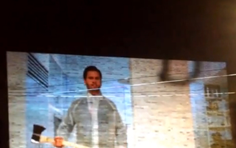 """Kanye West """"New Slaves"""" ('American Psycho'-styled Video Projection in Toronto)"""
