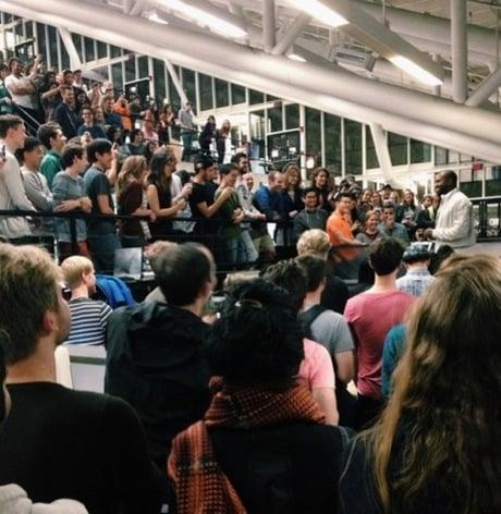 Kanye West Gives Lecture for Harvard Graduate School of Design