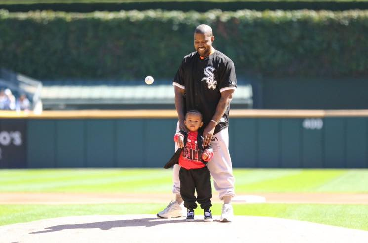 Watch Kanye and 2-Year-Old Saint West Throw the First Pitch at the Cubs and White Sox Game