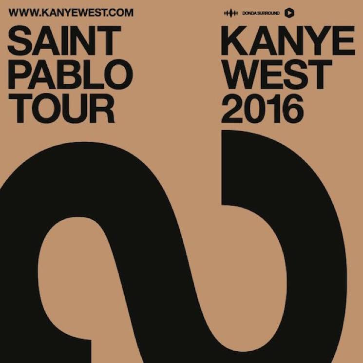 Kanye West Is Coming to Canada on 'The Saint Pablo Tour'