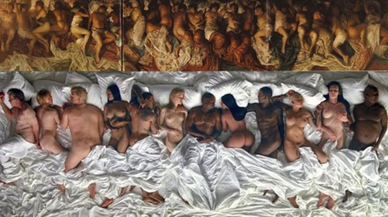"Kanye West Gets Taylor Swift, Bill Cosby, Donald Trump Naked for His Crazy-Ass ""Famous"" Video"
