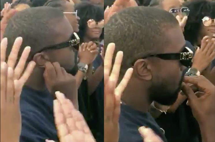 "Was Kanye West Eating His Earwax at ""Sunday Service""?"