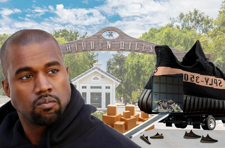 Kanye West Reportedly Moves 500 Pairs of Shoes out of Calabasas Mansion