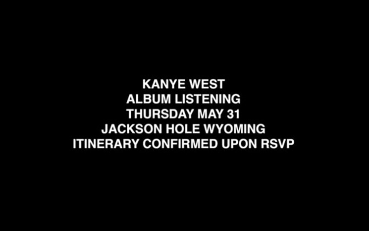 Kanye West Is Apparently About to Host a Listening Party for His New Album