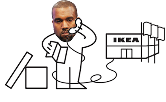 IKEA Rejects Kanye West Collaboration