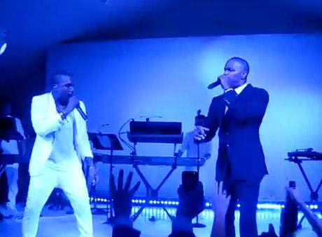 """Kanye West """"Gold Digger"""" (ft. Jamie Foxx) (live at Cannes Film Festival)"""