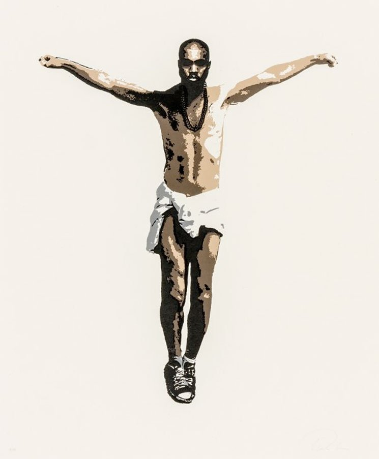 Kanye West Immortalized with Life-Size Crucifixion Sculpture