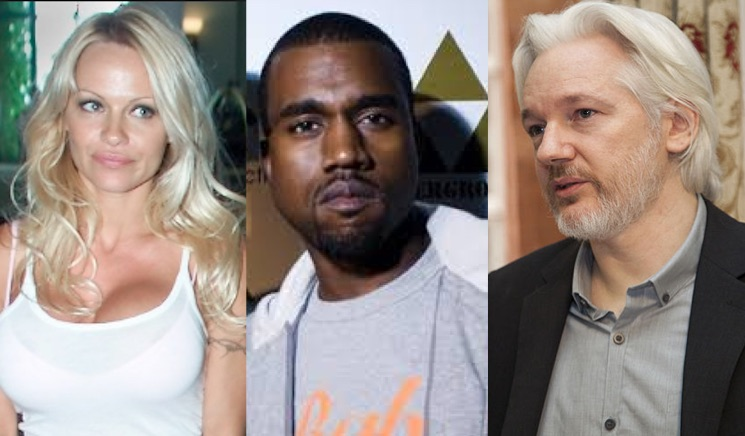 Pamela Anderson asks Kanye to help Julian Assange
