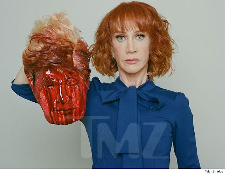 Kathy Griffin Says She's Under Secret Service Investigation Following Trump Beheading Photo