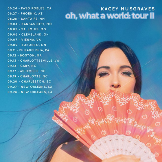 Kacey Musgraves Extends North American Tour, Adds Toronto Date