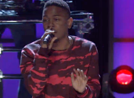 "Kendrick Lamar ""m.A.A.d. City"" / Schoolboy Q ""Collard Greens"" (live on 'Arsenio')"