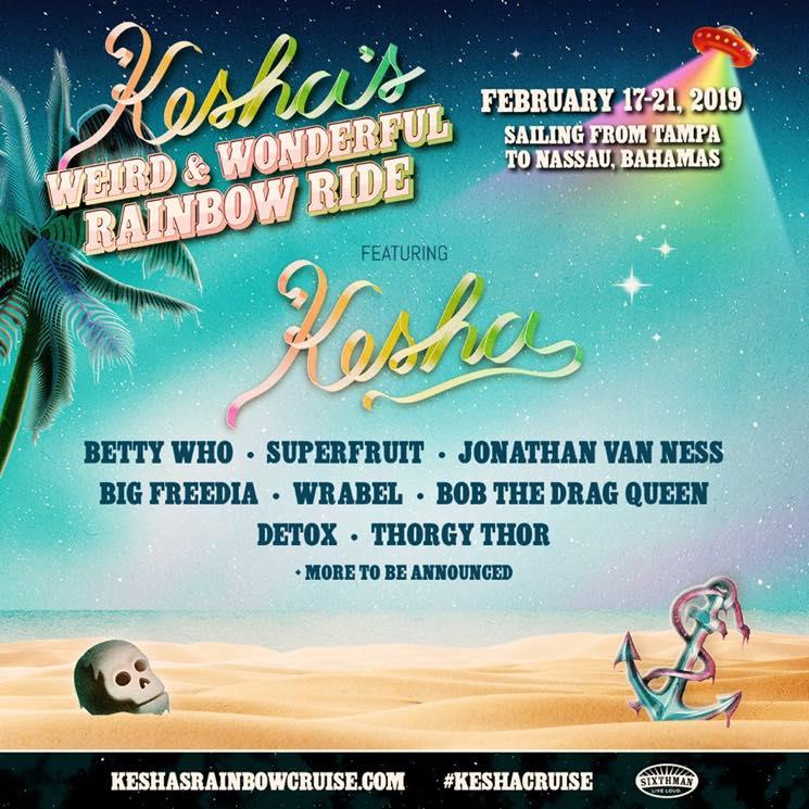Kesha Gets Big Freedia, Jonathan Van Ness, Bob the Drag Queen for 'Weird & Wonderful Rainbow Ride' Cruise