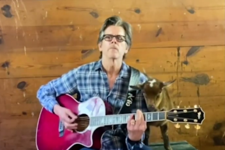 Kevin Bacon Performs Radiohead's 'Creep' for His Goats