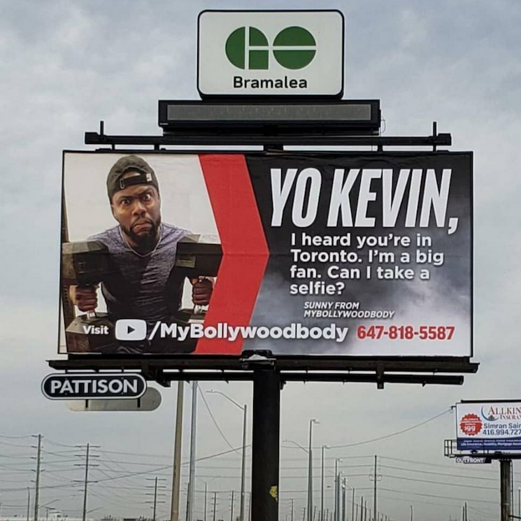 A Brampton Man Is Trying to Meet Kevin Hart via a Billboard Ad