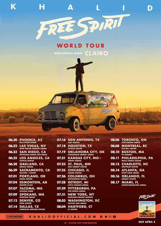 Khalid Maps Out 'Free Spirit World Tour' with Clairo