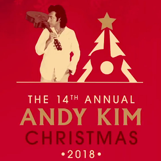 ​Andy Kim Details 2018 Christmas Shows in Toronto and Montreal