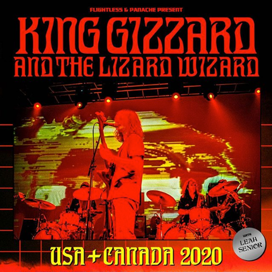 King Gizzard & the Lizard Wizard Plot 2020 North American Tour