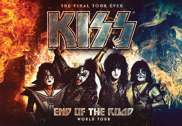 "KISS Extend ""End of the Road"" Farewell Tour, Add Shows in Toronto and Montreal"