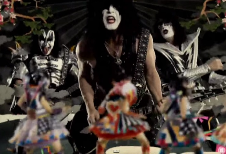 "Kiss ""Yume No Ukiyo Ni Saitemina"" (ft. Momoiro Clover Z) (teaser video)"