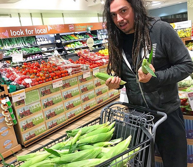 Here's a Dude from Korn Actually Shopping for Corn