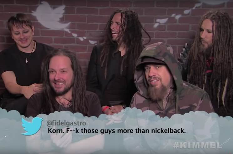 Korn, Nickelback, Imagine Dragons Read Mean Tweets on 'Kimmel'