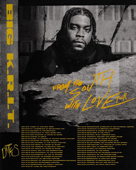 "Big K.R.I.T. to Play Toronto on ""From the South with Love Tour"""