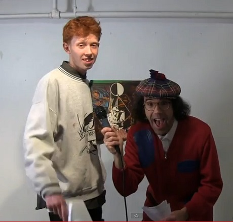 Nardwuar the Human Serviette vs. King Krule (video)