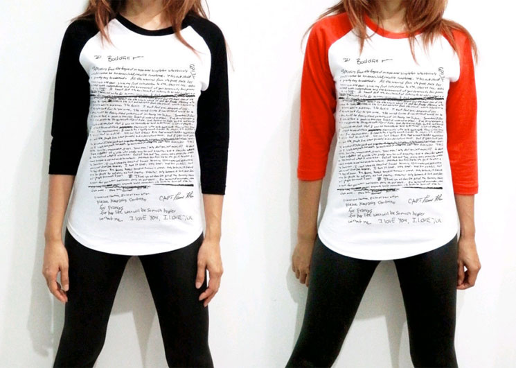 Someone Is Selling Shirts Emblazoned with Kurt Cobain's Suicide Note