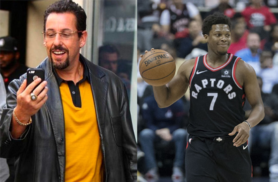 Adam Sandler and Kyle Lowry to 'Hustle' in New Netflix Film