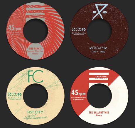 La-Ti-Da Records Taps the Tranzmitors, Needles//Pins, Fist City, the Ballantynes and the React! for Singles Series