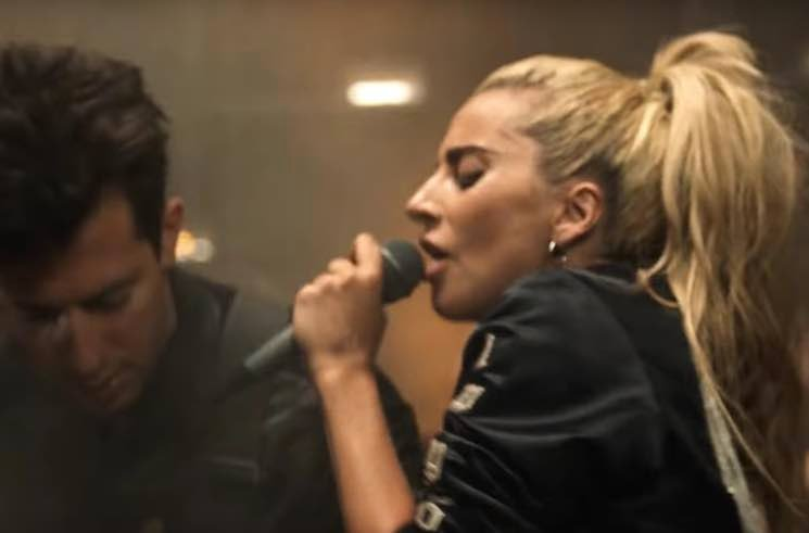 "Watch Kevin Parker, Mark Ronson and BloodPop Back Lady Gaga in the ""Perfect Illusion"" Video"