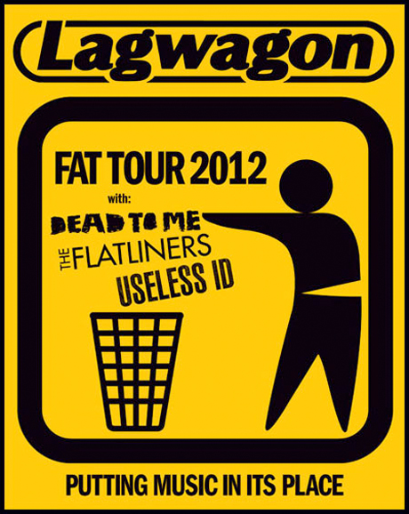 Lagwagon Anchor Fat Tour 2012 with Dead to Me, Flatliners, Useless ID
