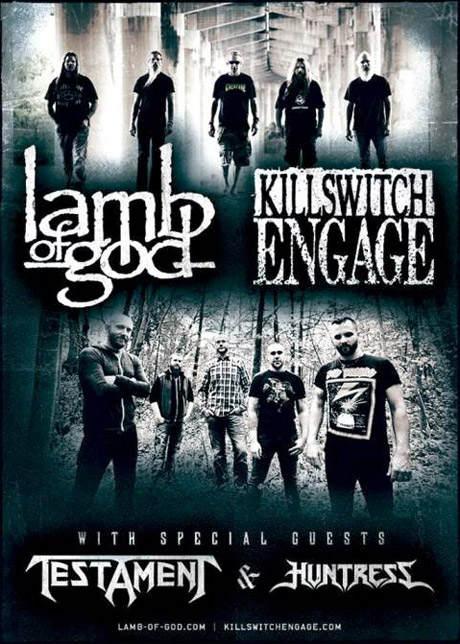 Lamb of God Announce North American Tour with Killswitch Engage and Testament