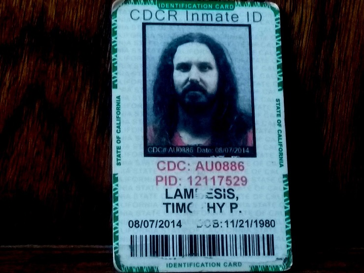 You Can Buy As I Lay Dying Frontman Tim Lambesis's Prison ID Card on eBay