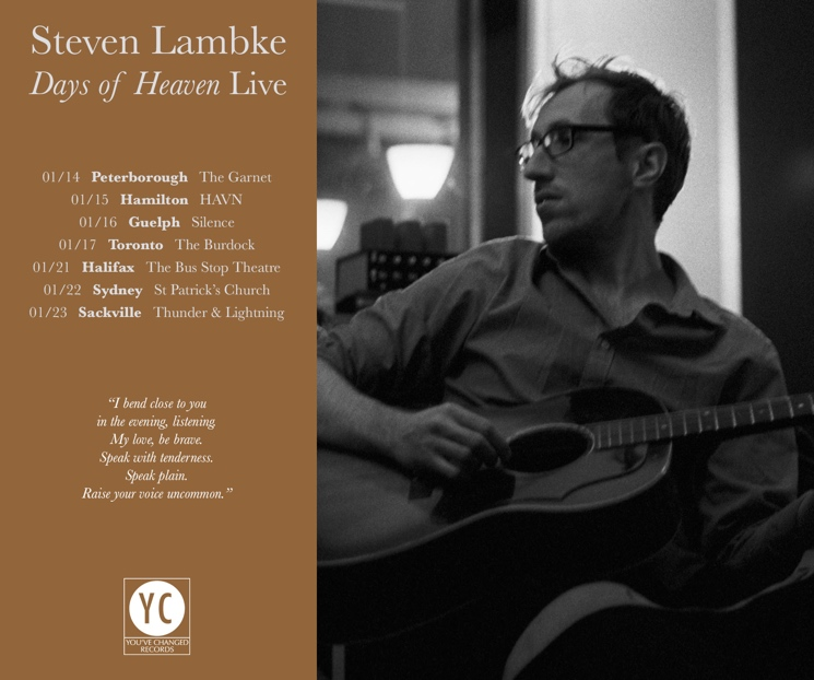Steven Lambke Books Canadian Winter Tour