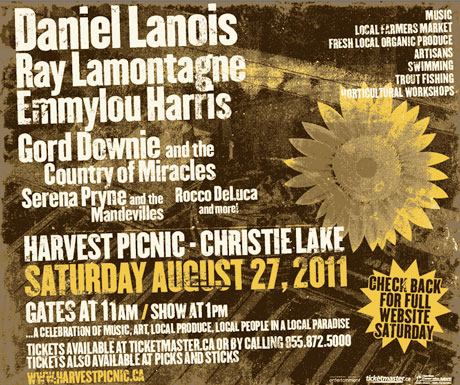 Daniel Lanois Recruits Gord Downie, Ray LaMontagne for Harvest Picnic Fest