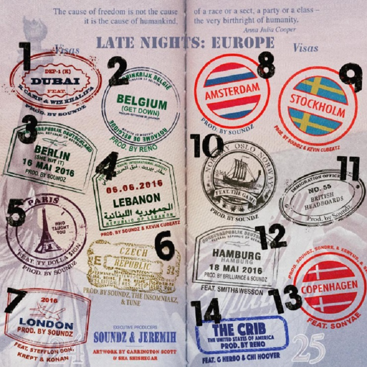 Jeremih Drops 'Late Nights: Europe' Mixtape with Ty Dolla $ign, Wiz Khalifa, the Game
