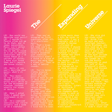 Laurie Spiegel's 'The Expanding Universe' Gets Reissue